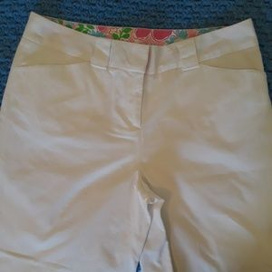 Lilly Pulitzer Crisp White Cotton Shorts